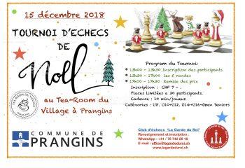 Affiche Tournoi Noel 2018 - Prangins