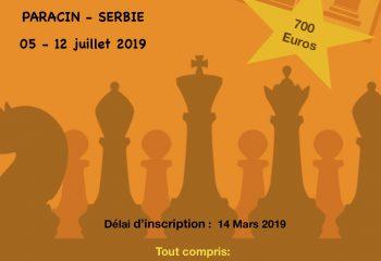 Affiche tournoi PARACIN